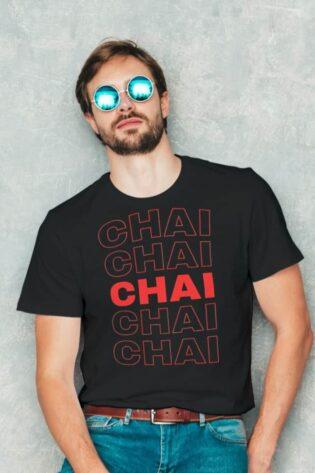 Chai Lover Round Neck TShirt Mera Merch India